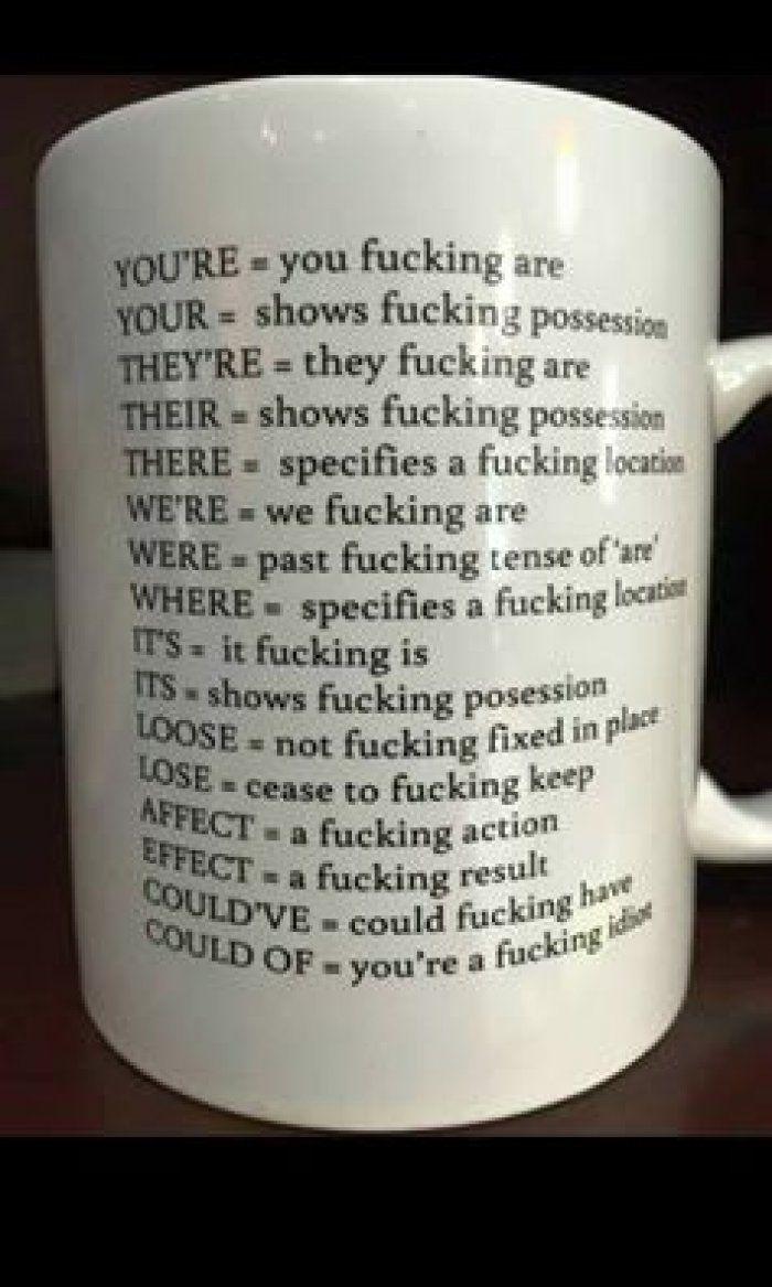 The grammar cup - http://jokideo.com/the-grammar-cup/