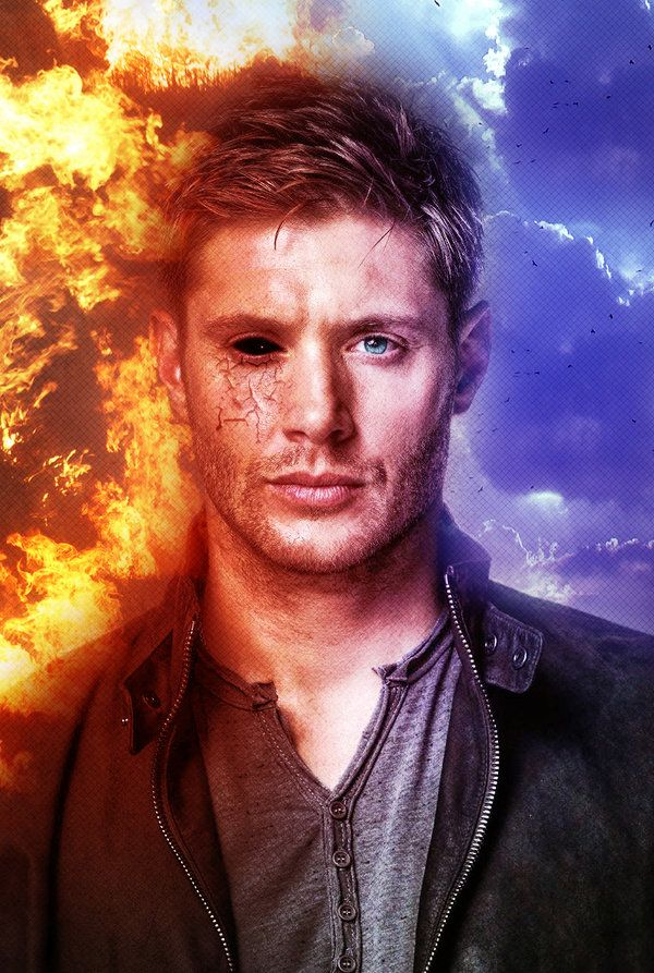 Deanmon by angiezinha<-- why is hisleft eye blue?! Its green people!
