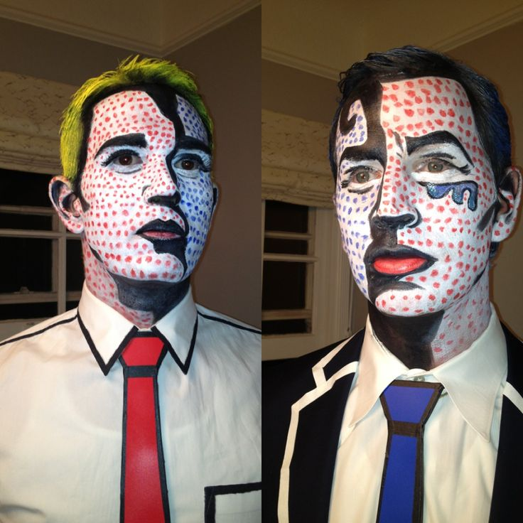 Lichtenstein inspired pop art makeup