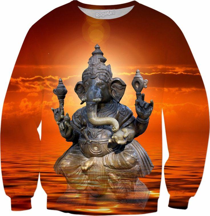 Elephant Ganesha Sweatshirt #rageon #erikakaisersot #sweatshirts #ganesha
