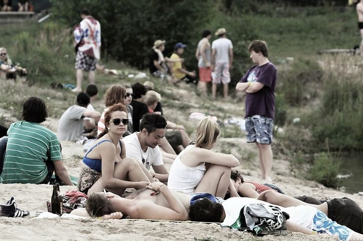 chilling on the beach