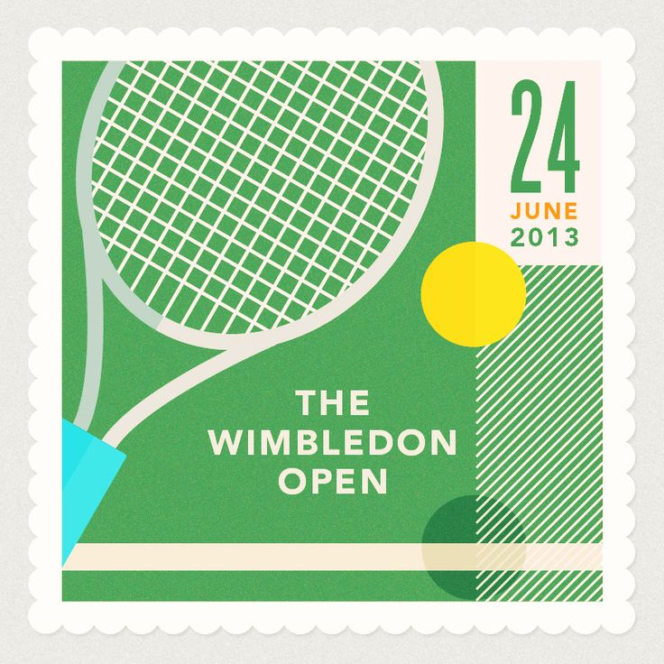 Wimbledon Open #tennis #illustration