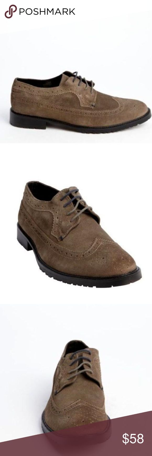 Ben Sherman Men's Gray Suede Wingtip Shoes 100% Authentic Ben Sherman!  Buy with confidence!  Features: • Brand: Ben Sherman • Gender: Men's • Color: Gray • Material: Suede • Style: Wingtip Tooled Max Oxfords • Size US 8.5, EU 41.5 • Style: BN400029-01G • Imported   Please feel free to ask any questions. Happy shopping! Ben Sherman Shoes