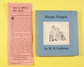 Vintage Children's Book Sleepy People by M.B. Goffstein 1966.