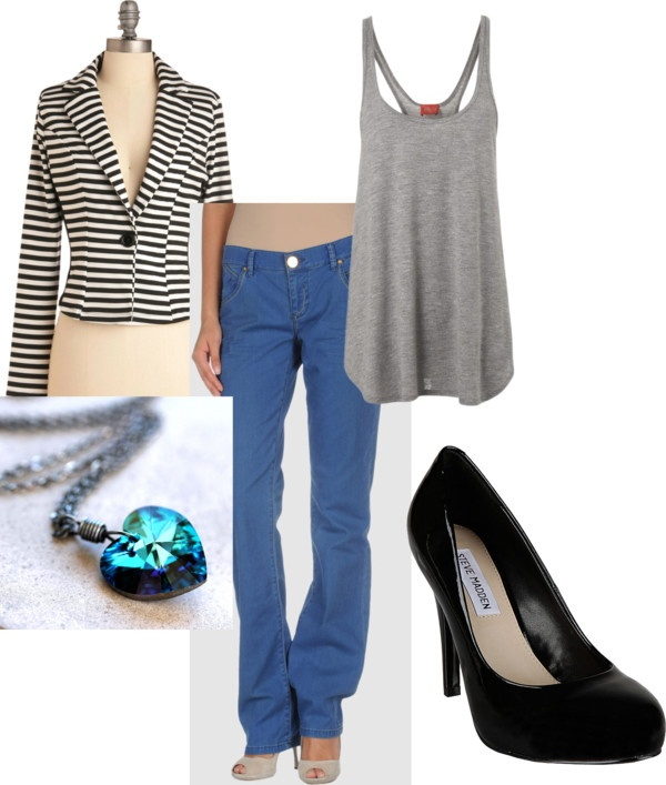 """Black and Blue all Over"" by spaml on Polyvore"