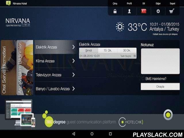 Nirvana Hotel  Android App - playslack.com , Değerli misafirimiz, NIRVANA Lagoon Villas Suites & SPA'da konaklamanızla ilgili birçok işlemi, bundan böyle HotelChk ile mobil cihazınız üzerinden kolayca planlayabilir, tatiliniz için kendinize ve sevdiklerinize daha fazla zaman ayırabilirsiniz.  HotelChk İle Neler Yapabilirsiniz?Henüz otele gelmeden, uygulama üzerinden bilgilerinizi girerek Check-In ve Check-Out işlemlerinizi hızlandırabilir, konaklamanızla ilgili tercihlerinizi iletebilir, A…