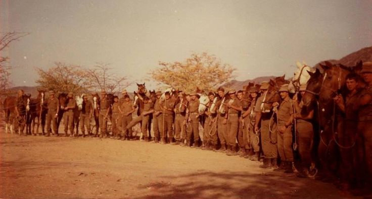 Berede - SA Army mounted infantry unit.