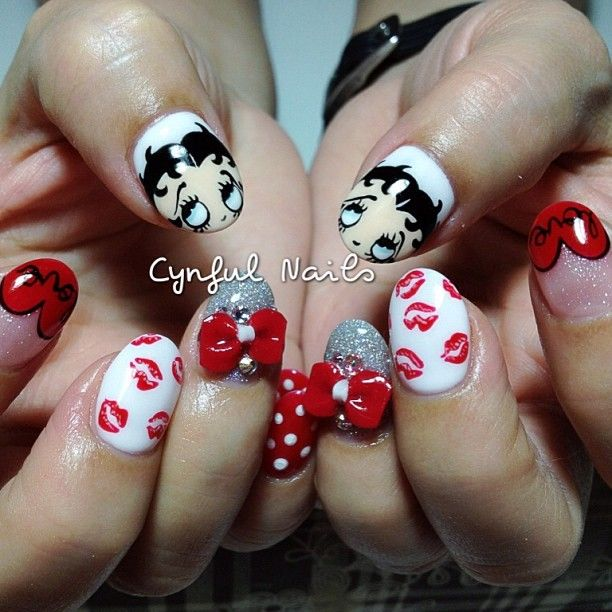 Betty Boop Nails: 37 Best Betty Boop Nails Images On Pinterest