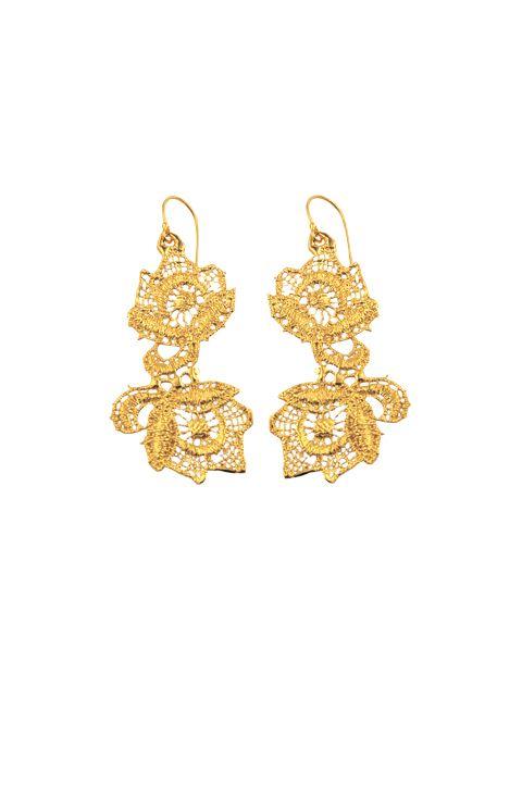 utopia elena.k lace earrings