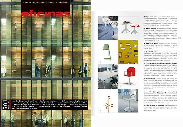 "Minimate de Massmi, diseño de Nacho Timón en Revista ""Oficinas""."