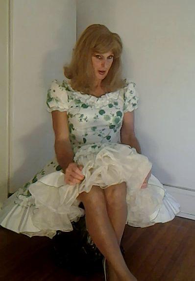 Tgirl In Square Dance Dress And Petticoat Classic