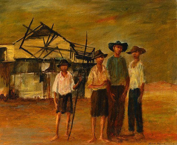 "Russell Drysdale ""Four Boys In Cooktown"""