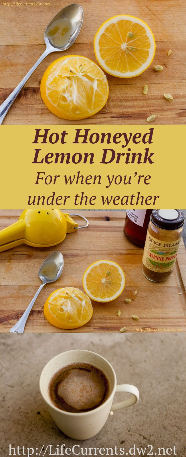 The Hot Honeyed Lemon Drink: Sip on this hot drink to open sinuses and make your throat feel better. And I give you 3 more of my favorite ways to feel a bit better when the flu might have a hold of you or someone you love.: