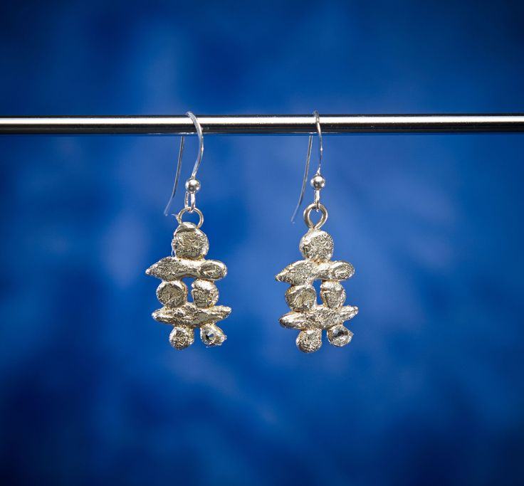 Short Inushuk earrings from Arctic Ice Jewels Tundra Creatures collection are great  ponytail earrings