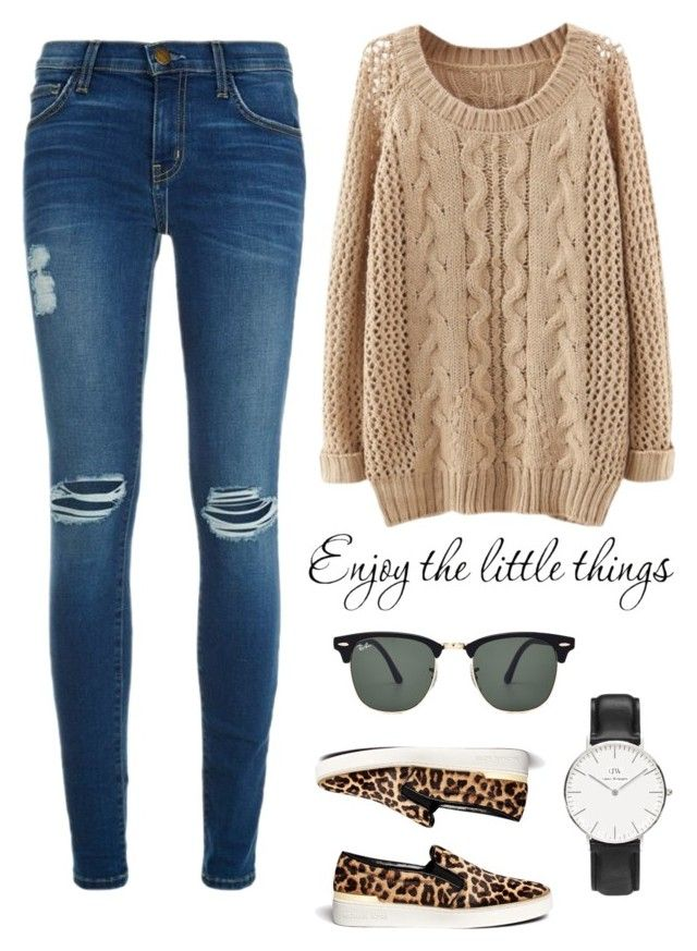 """""""happy thanksgiving"""" by erycaah ❤ liked on Polyvore featuring Current/Elliott, Daniel Wellington, Ray-Ban and MICHAEL Michael Kors"""