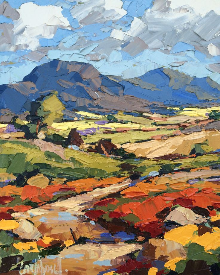 The 25 best abstract landscape painting ideas on for Landscape drawing ideas