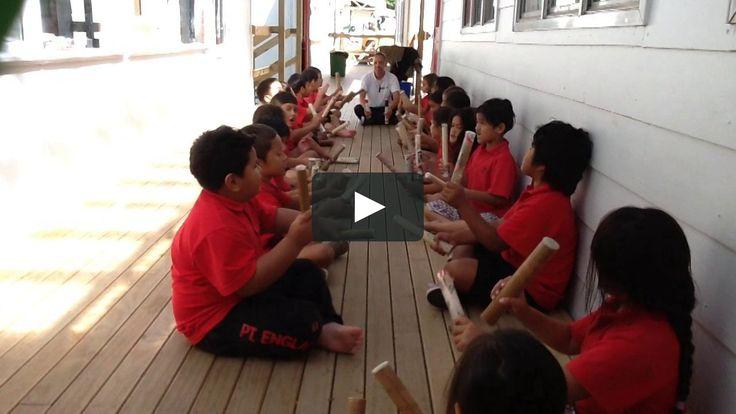 Class 18 are learning 'Ti Rakau' song. on Vimeo