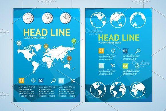 Maps brochure flyer design templates #brochure #banner
