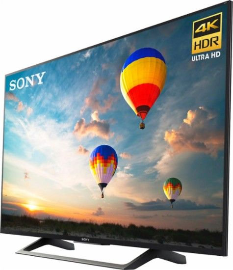 "Sony - 55"" Class (54.6"" Diag.) - LED - 2160p - Smart - 4K Ultra HD TV with High Dynamic Range - Left Zoom"