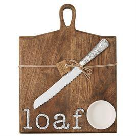 Loaf Paddle Board Bread & Knife Set, Mudpie, Mud Pie