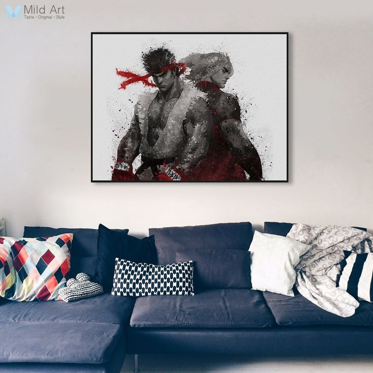 Original Price US $7.00 Discount 4 Modern Watercolor Street Fighter Ryu Ken Canvas A4 Art Poster Prints Japanese Game Boy 2 Piece Home Decor Painting No Frame your way to excellence #Painting#Calligraphy