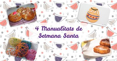 """Bloc Manetes de Colors: """"4 manualitats de Setmana Santa""""  #manualidades #semanasanta #pascua #cocina"""