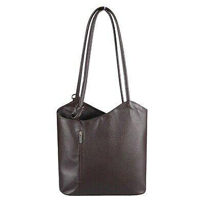 ITAL DAMEN LEDER TASCHE 2in1 Rucksack Schultertasche Handtasche Henkeltasche BAG…