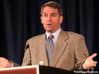 On Tuesday, former Virginia Attorney General and Republican gubernatorial candidate Ken Cuccinelli said embattled New Jersey Gov. Chris Christie should resign as chairman of the powerful Republican Governors Association because the scandals Christie is dealing with may tarnish the GOP brand and make him an ineffective surrogate.