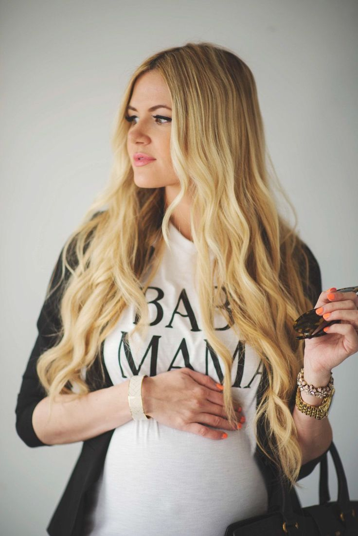 'BABY MAMA' tee ...  Love Love Love this! I want it! And a Baby Daddy one too of course