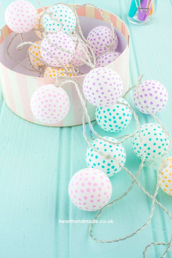 A Super Simple DIY You Will Love To Make! How To Make Polka Dot Party Ping Pong Lights
