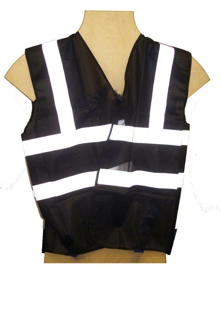 Black HI VIS / VIZ - High Visibility Safety Security Waistcoat Vest M - 3XL