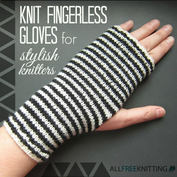 Free your fingers with this fashionable list of fingerless gloves knitting patterns!