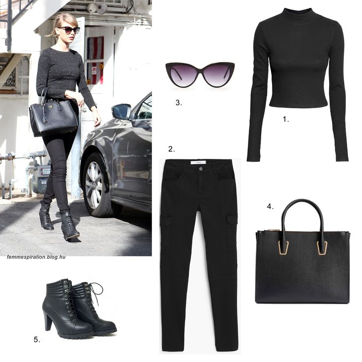 #taylorswift #streetstyle #fashion #style #inspiration #black #allblack #mango #forever21 #hm