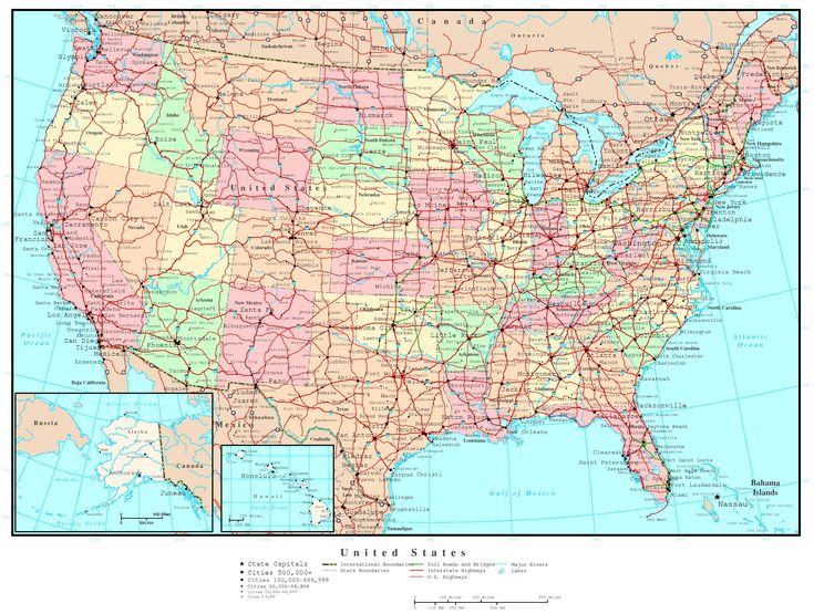 Reference Map Showing Major Highways And Cities Roads Of: Map Of The United States Highways And Cities At Usa Maps