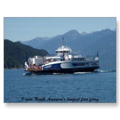 Kootenay Lake Ferry, British Columbia Post Cards