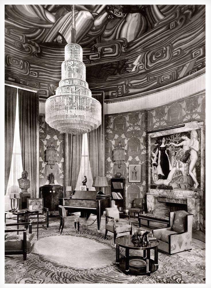 Émile-Jacques Ruhlmann / 1925 The Grand Salon of the Hôtel d'un Collectionneur / on display at the Exposition Internationale des Arts Décoratifs et Industriels Modernes