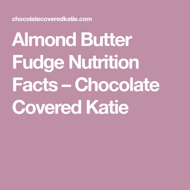Nährwertangaben für Mandelbutterfondant – schokoladenüberzogen Katie