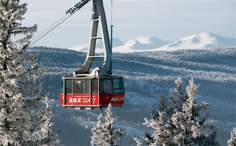 Åre slopes, Jämtland province, Sweden.