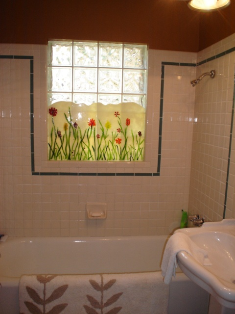 Privacy panel for bathroom Custom Panels by Barbara Draughon