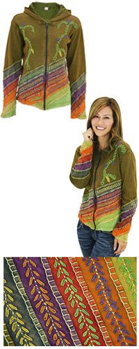 Leaves of Grass Hooded Jacket at Hope Faith Love