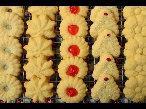 Spritz Cookies - Joyofbaking.com - I think this is the best spritz cookie I've made. It's a winner!