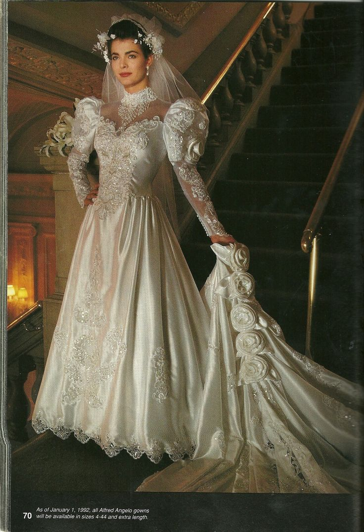 125 best wedding dresses from the 80s images on pinterest retro lace appliques satin vintage wedding dresses with royal train long sleeve bridal gowns junglespirit Choice Image