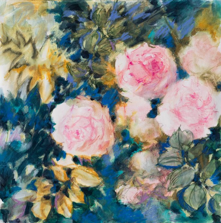 FINEARTSEEN - Autumn roses by Fabienne Monestier. Find the perfect artwork for your home or space. A beautiful original floral painting of roses available on FineArtSeen l The Home Of Original Art. Enjoy FREE DELIVERY on every order. Art for art lovers, interior designers and project managers. << Pin For Later >>