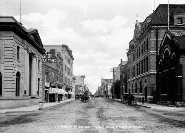 Rosser Avenue Street Scene, Brandon, Manitoba