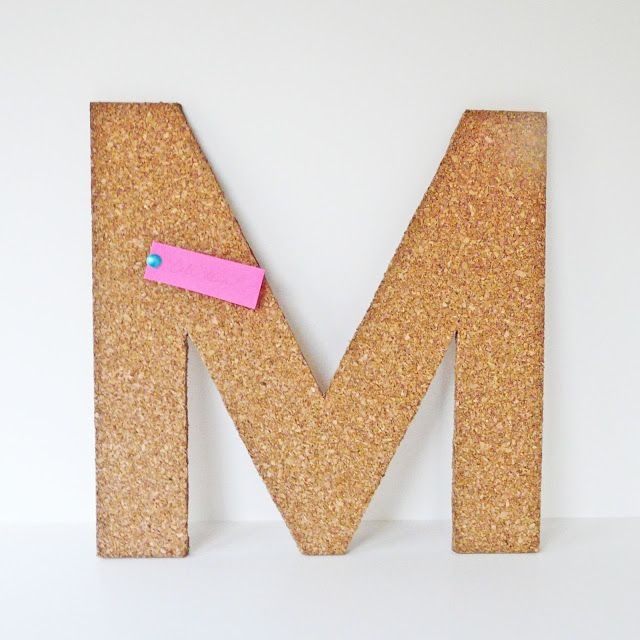 [Make] Cork Letter Tack Board via bliss bloom blog