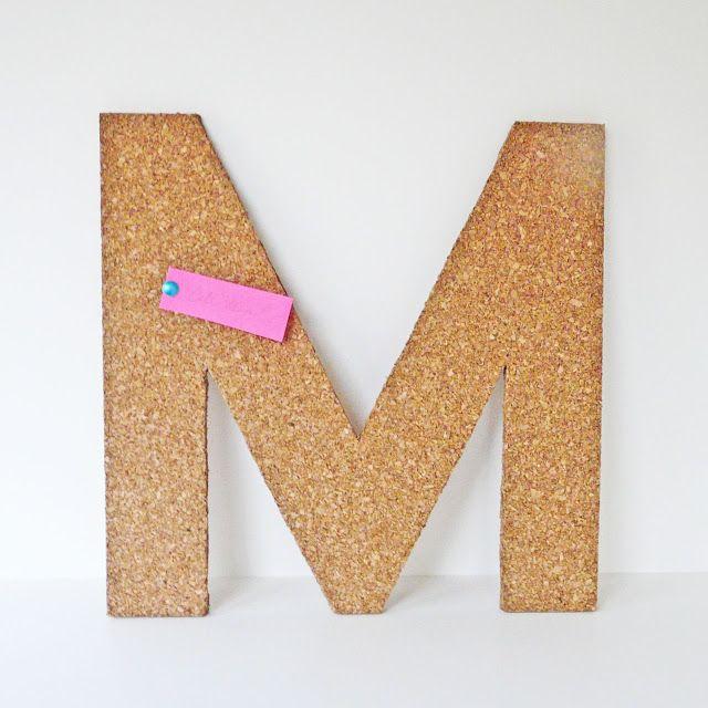 [Make] Cork Letter Tack Board via bliss bloom blog