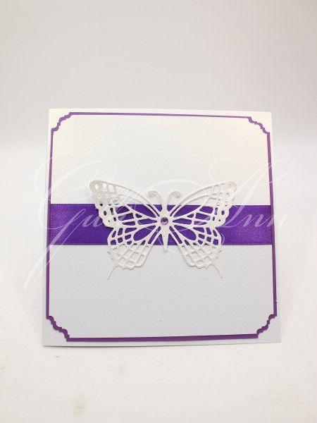 Свадебные пригласительные ручной работы Gilliann White Butterfly INV047, http://www.wedstyle.su/katalog/invitations/priglashenia-ruchnoy-raboti, #wedstyle, #свадебныеаксессуары, #приглашениянасвадьбу, #пригласительныенасвадьбу