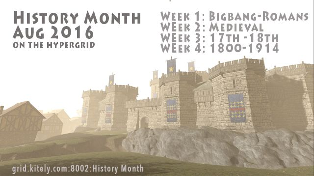 History Month on Kitely, a virtual world