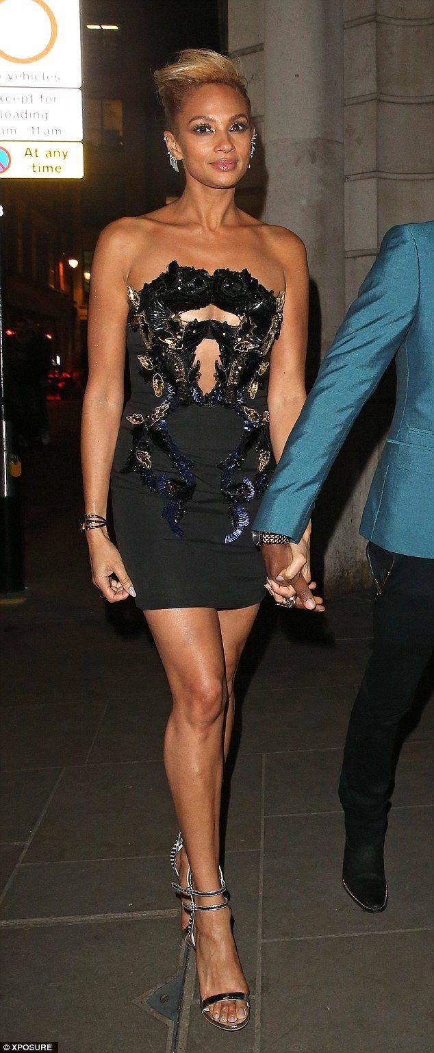Leggy lady Alesha Dixon!Slipping into a little black dress, the Britain's Got Talent judge ensured her...