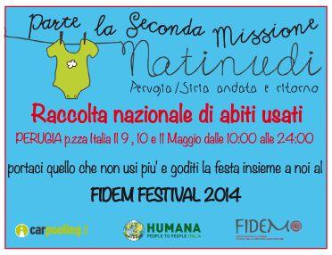 9-11 maggio: NATI NUDI - Perugia/Siria andata e ritorno. Raccolta di abiti usati per i rifugiati siriani